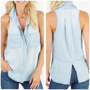 Clothe & Stone | chambray sleeveless top sz M
